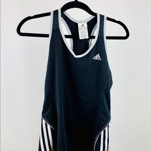 Adidas Black and white fitness racerback Top.